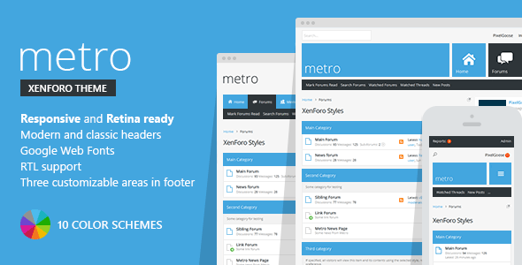 Download Metro — XenForo Responsive & Retina Ready Theme nulled version
