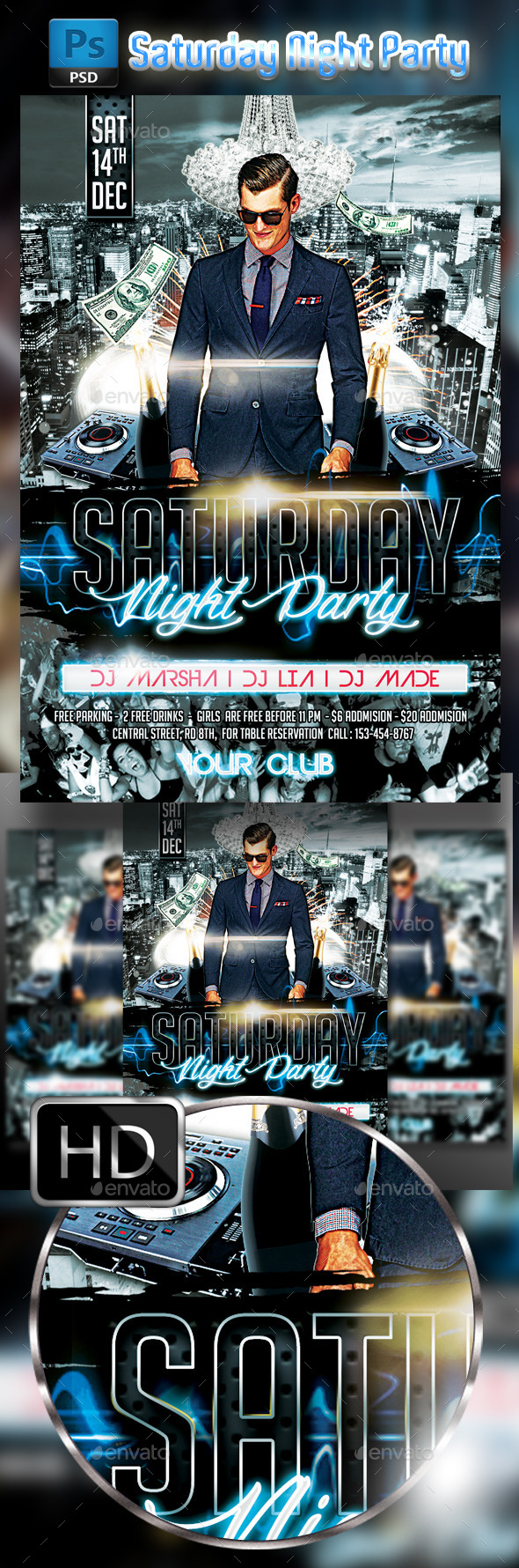 Saturday Night Party #2 - Clubs & Parties Events
