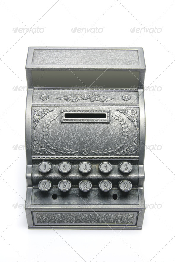 Toy Cash Register Saving Bank - Stock Photo - Images