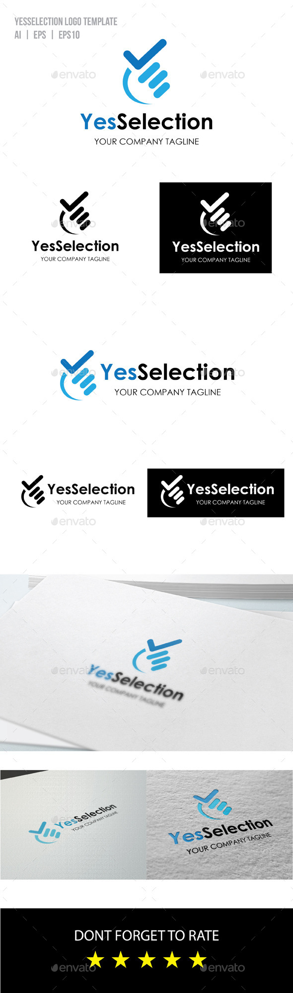 Yes Selection Logo - Objects Logo Templates