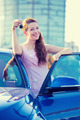 Woman showing keys of new car - PhotoDune Item for Sale