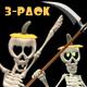 Dancing Skeleton Trio - Pumpkin Hats - Pack of 3 - VideoHive Item for Sale