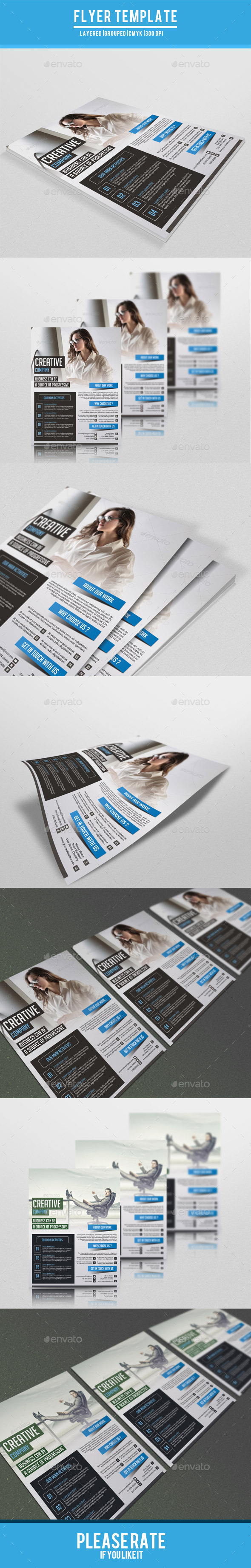 Business Flyer Template-V144 - Corporate Flyers