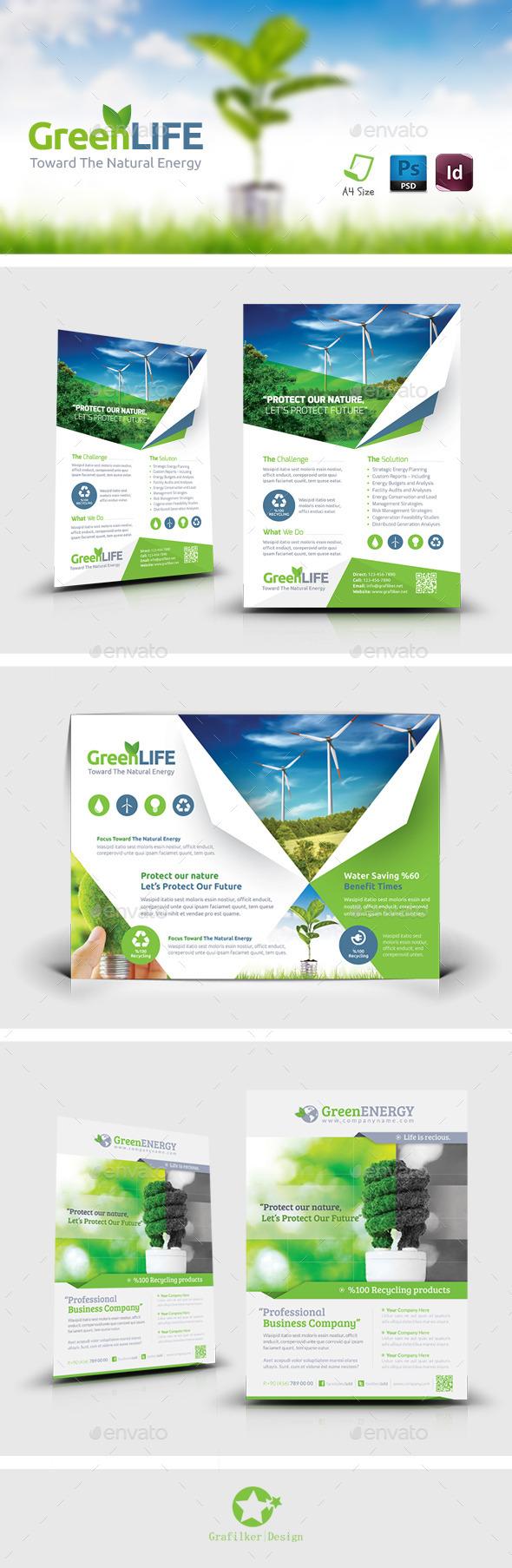 Green Energy Flyer Bundle Templates - Corporate Flyers