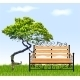 Bench with Tree and Grass - GraphicRiver Item for Sale