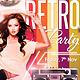 Retro Party Flyer plus FB Cover - GraphicRiver Item for Sale