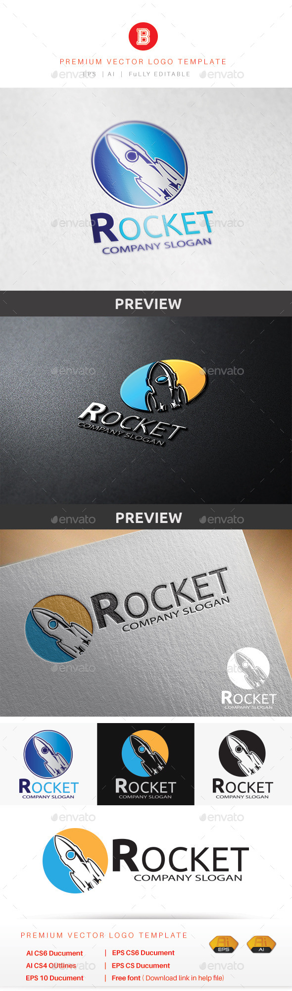 Rocket - Objects Logo Templates