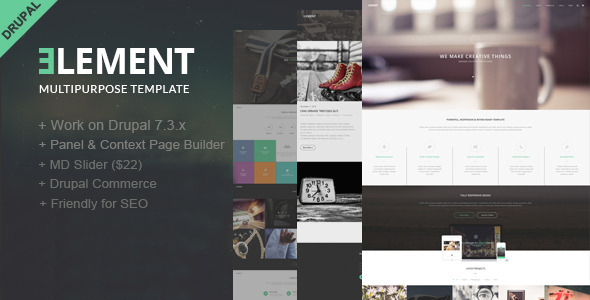 Element-Multipurpose Drupal Theme - Corporate Drupal