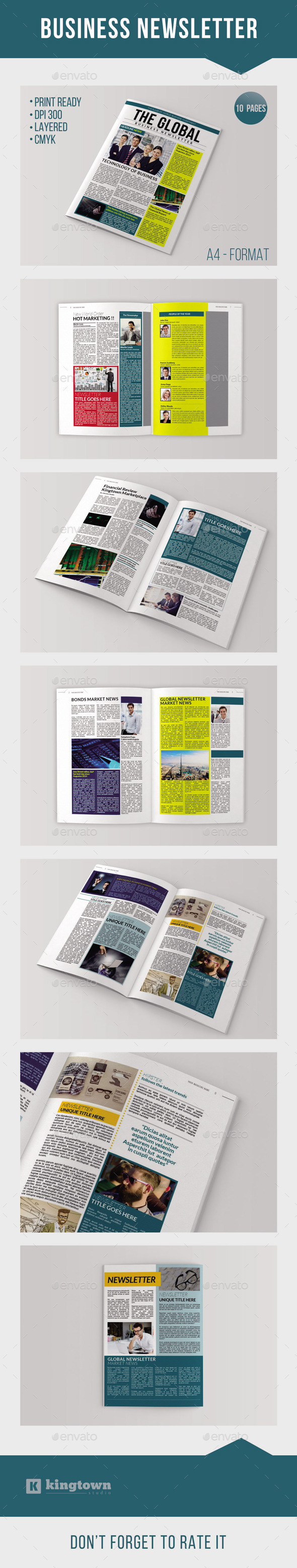 Business Newsletter Vol. 2 - Newsletters Print Templates