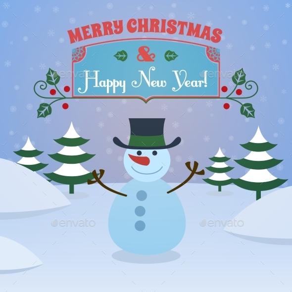 Christmas snowman background - Christmas Seasons/Holidays