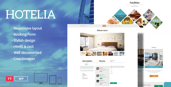 Hotelia - WordPress Hotel Theme - Travel Retail