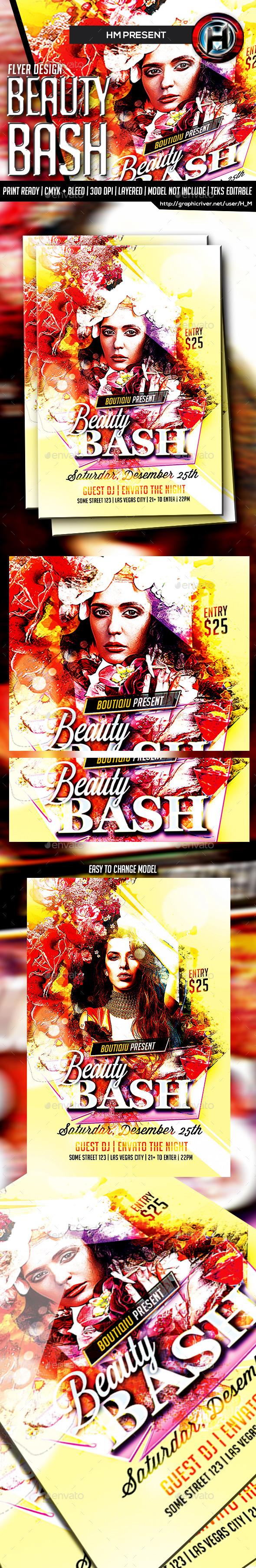Beauty Bash Flyer - Events Flyers