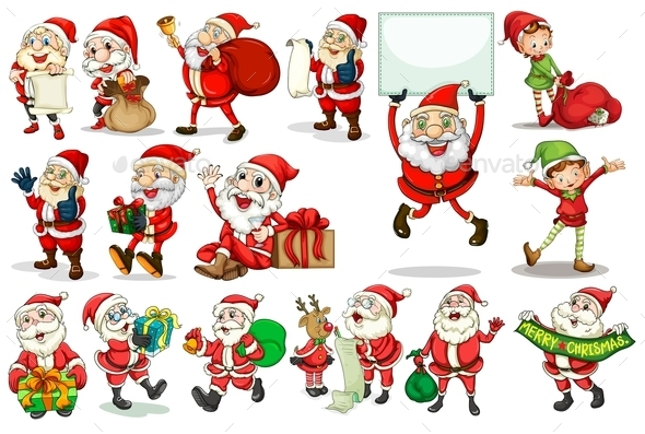 Santa Actions - People Characters