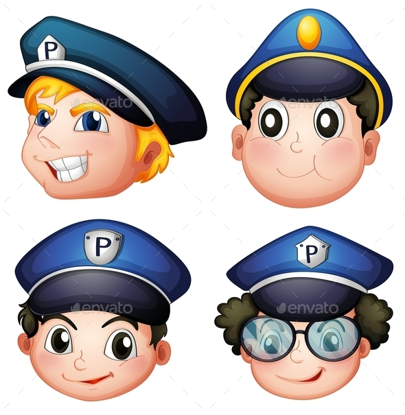 Head of Four Cops  - People Characters
