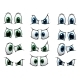 Set of Cartoon Eyes Showing Various Expressions - GraphicRiver Item for Sale
