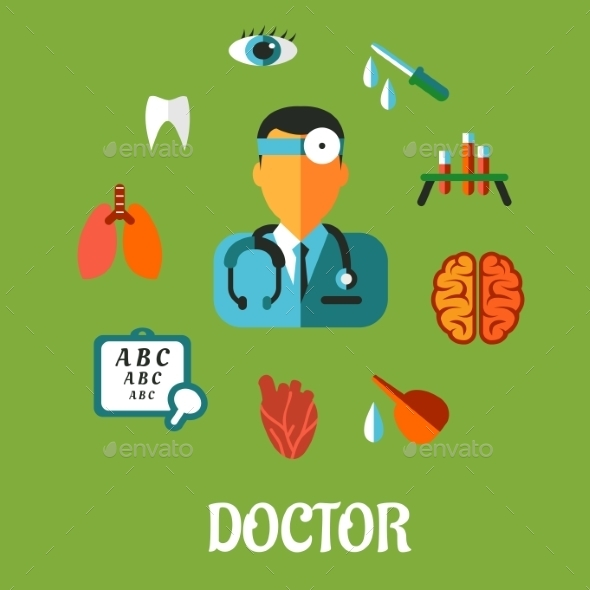 Medical flat infographic concept - Health/Medicine Conceptual