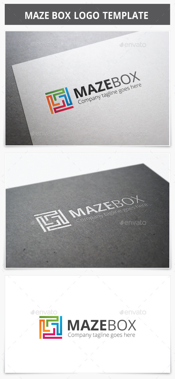 Maze Box Logo - Vector Abstract