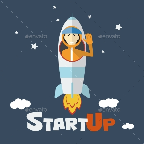 Vector Concept of Start Up New Business - Concepts Business