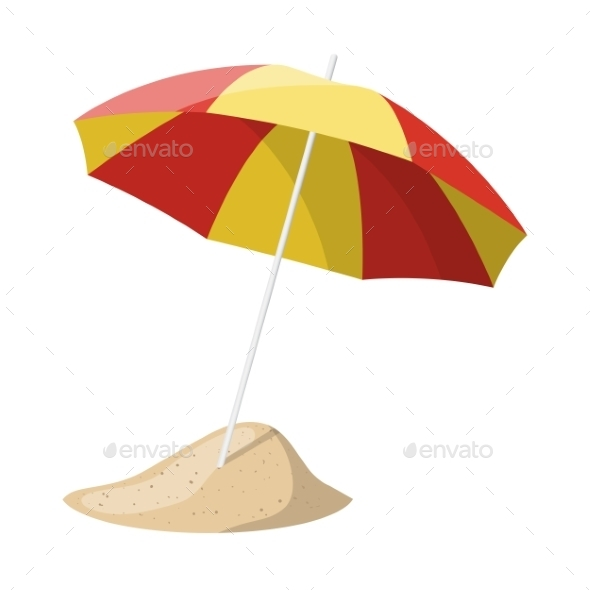 Beach Umbrella - Travel Conceptual