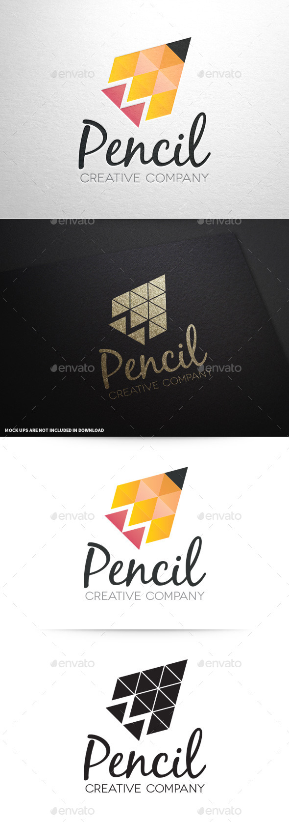 Pencil Creative Logo Template - Abstract Logo Templates