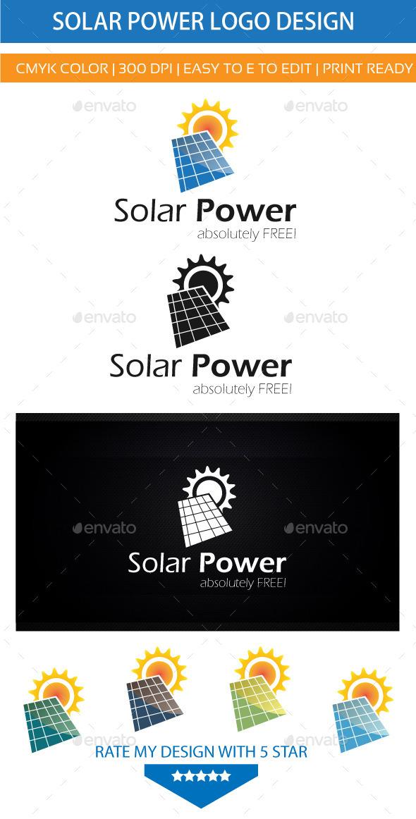 Solar Energy Power - Nature Logo Templates