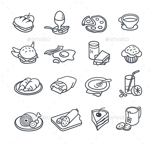 Food Icons Collection - Food Objects