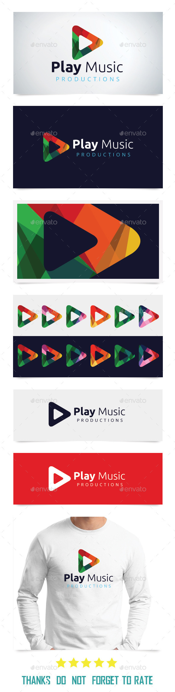 Play Music Logo Templates - Abstract Logo Templates