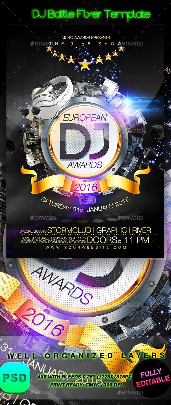 DJ Battle Flyer Template - Events Flyers