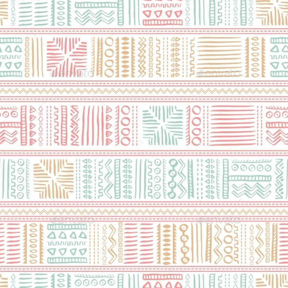 Abstract Seamless Pattern in Ethnic Style - Patterns Decorative