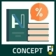Flat Self Publishing Book Concept - GraphicRiver Item for Sale