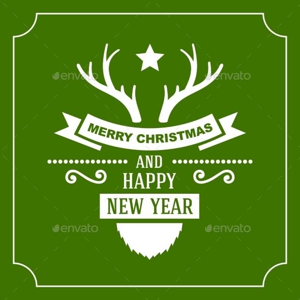 Greeting Christmas and New Year Card - Christmas Seasons/Holidays