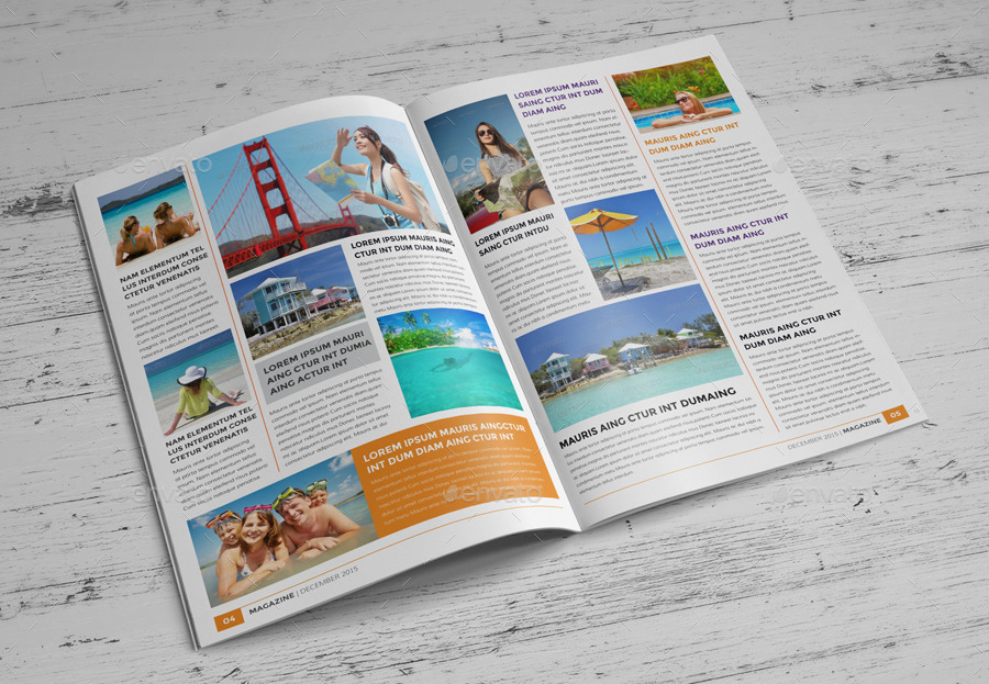 Travel Agency Magazine Brochure Template Indesig By Janysultana