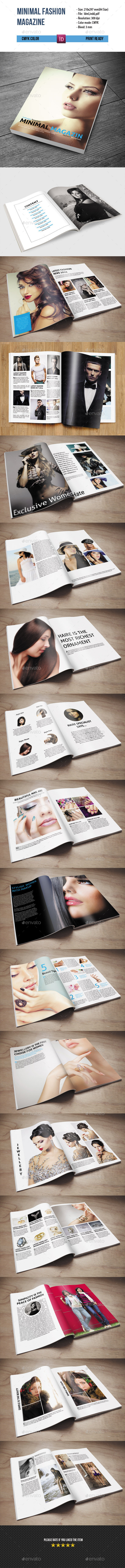 Minimal Fashion Magazine Template-34 Pages - Magazines Print Templates