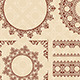 Brown Ornamental Elements - Vector Set - GraphicRiver Item for Sale