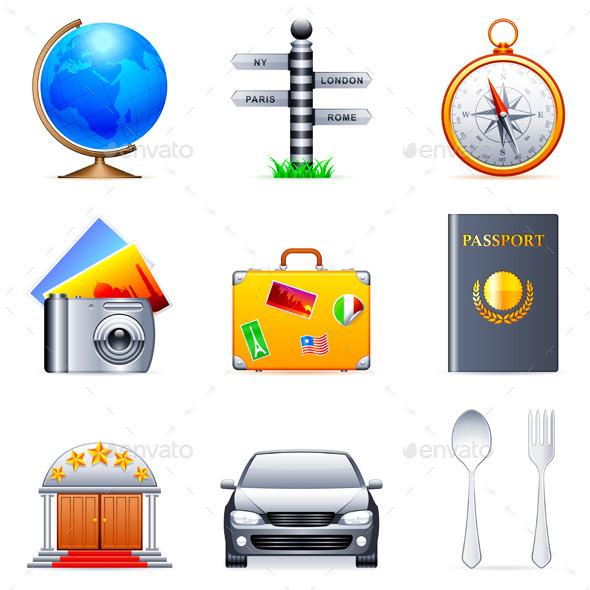 Travel Icons - Travel Conceptual