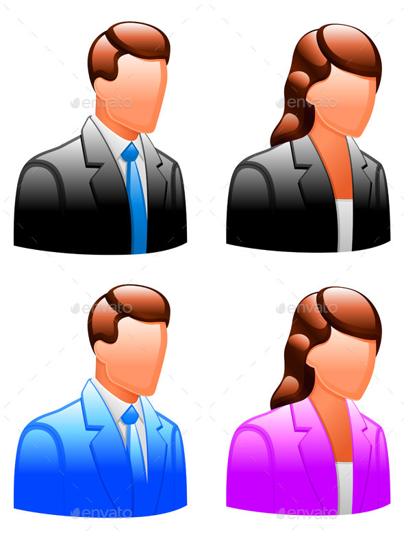 User Icons - People Characters