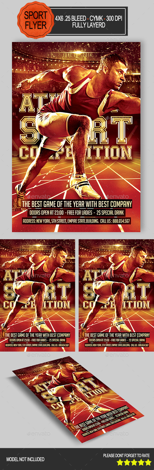 Athletic Competition Flyer - Sports Events