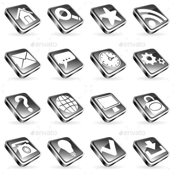 Web Icons - Web Elements Vectors
