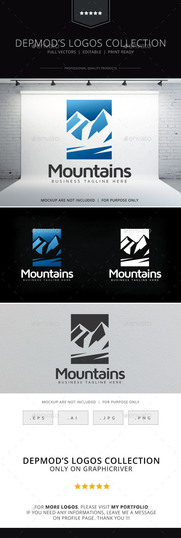 Moutains Logo - Nature Logo Templates