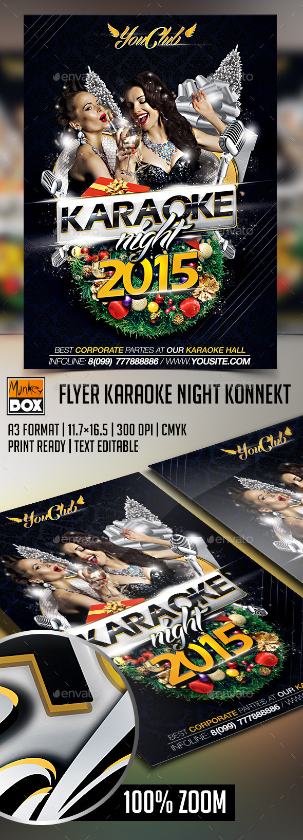 Flyer Karaoke Night Konnekt - Events Flyers