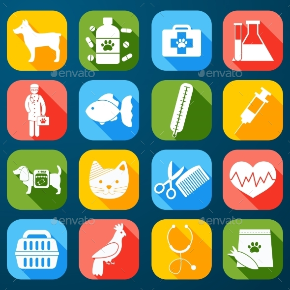 Veterinary Icons Set - Miscellaneous Icons