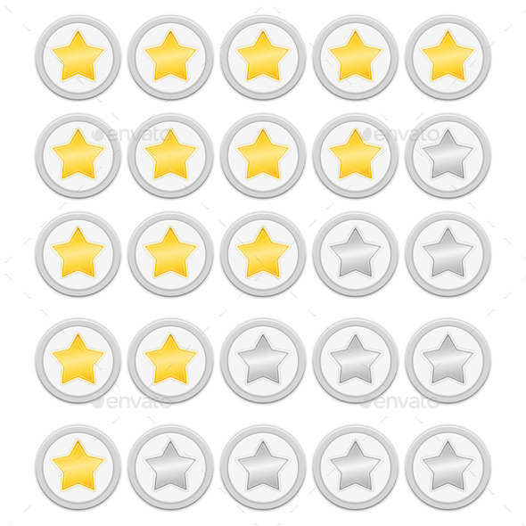 Rating Stars - Web Elements Vectors