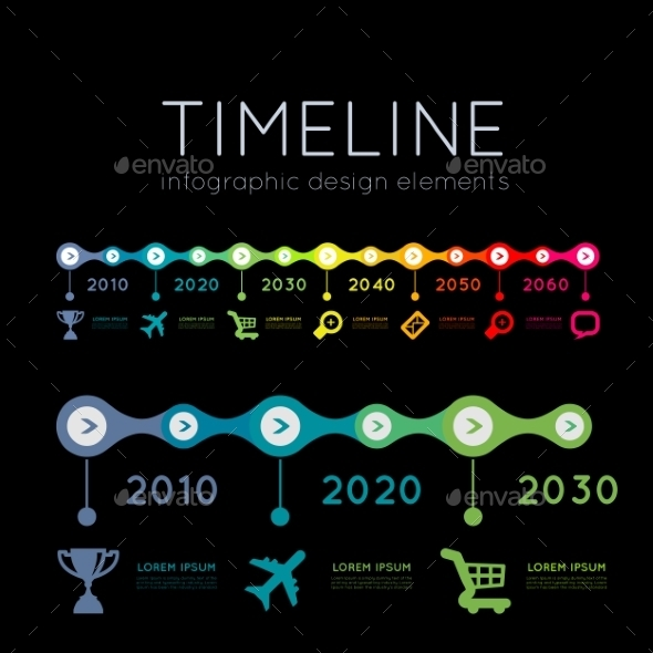 Timeline Infographic - Web Technology