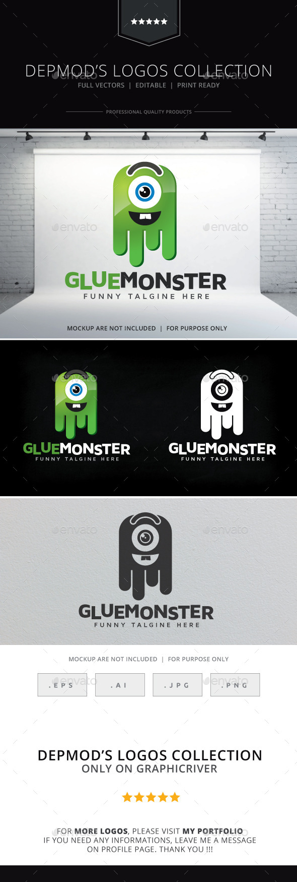 Glue Monster Logo - Objects Logo Templates