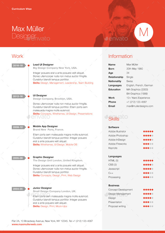 swiss style cv template - Lebenslauf Nationalitt