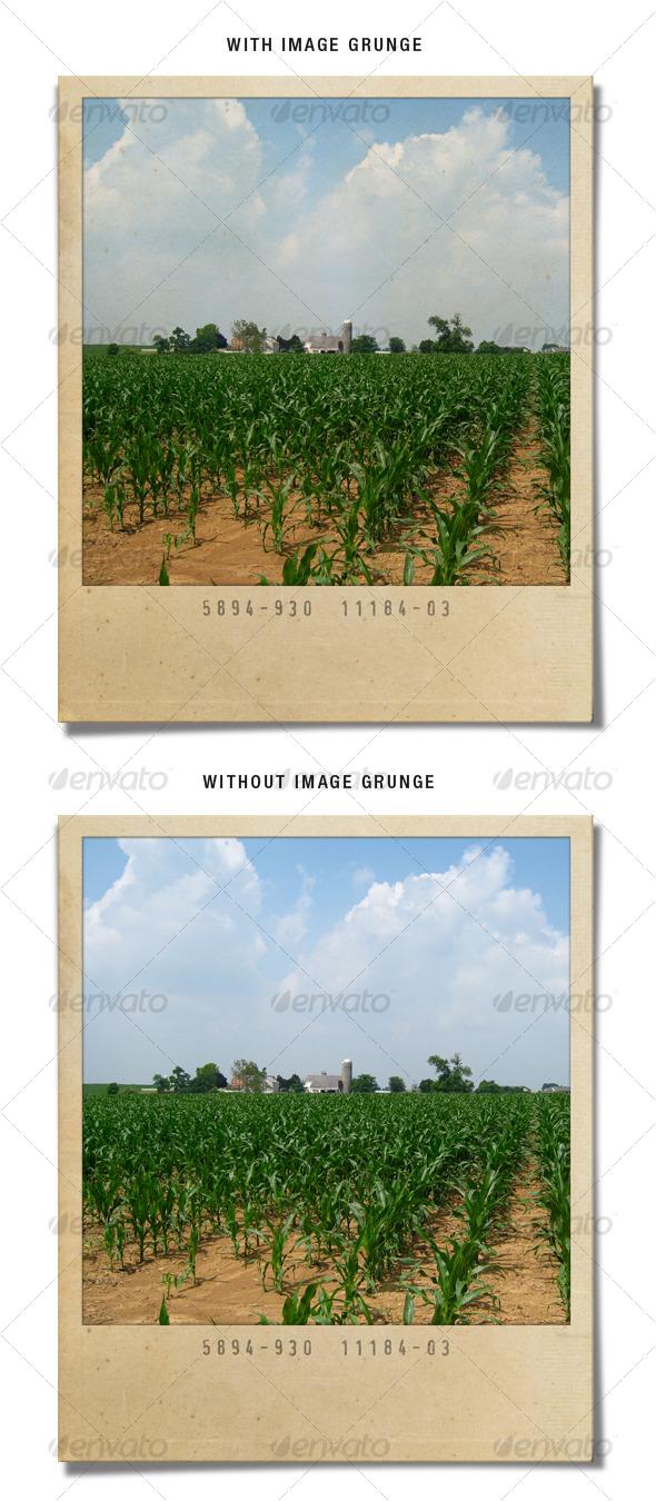Grunge Polaroid - Photo Templates Graphics
