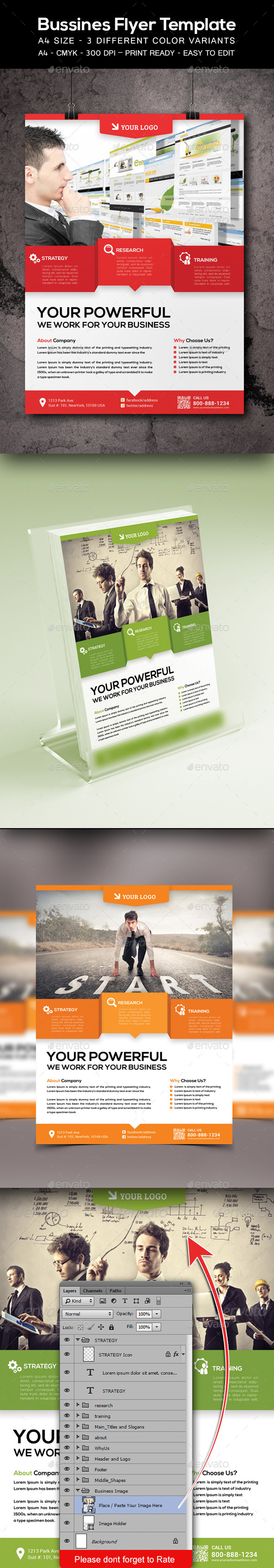 Corporate / Business Flyer Template - Corporate Flyers