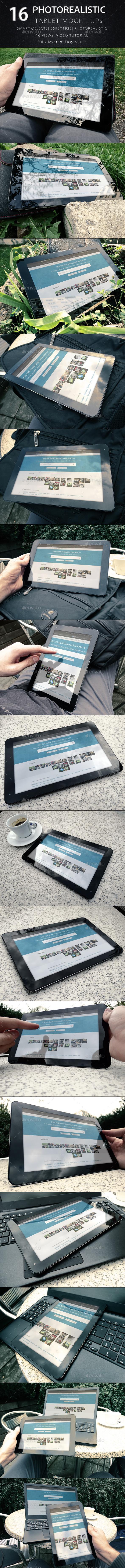 Photorealistic Tablet/Laptop Mock-Ups - Product Mock-Ups Graphics