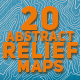 20 Abstract Earth Relief Maps - GraphicRiver Item for Sale