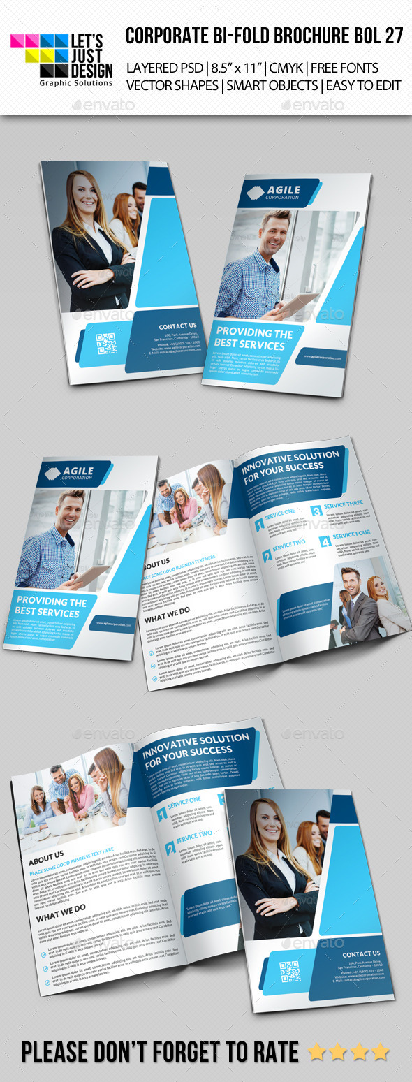 Creative Corporate Bi-Fold Brochure Vol 27 - Corporate Brochures
